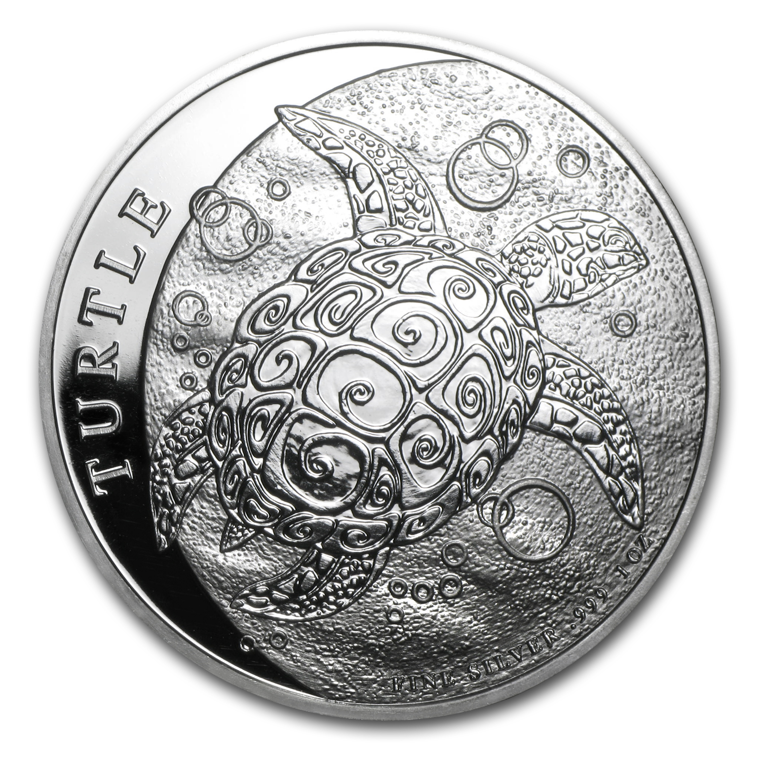 2014 1 oz Silver New Zealand Mint $2 Niue Hawksbill Turtle BU