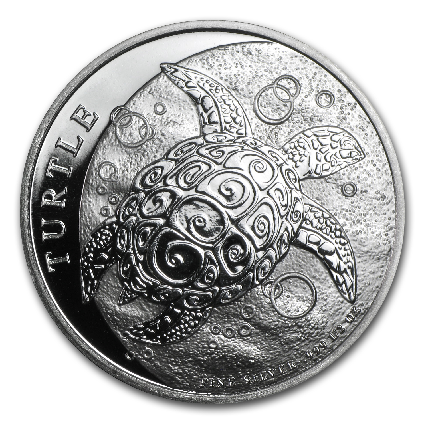 2014 1/2 oz Silver New Zealand Mint $1 Niue Hawksbill Turtle BU