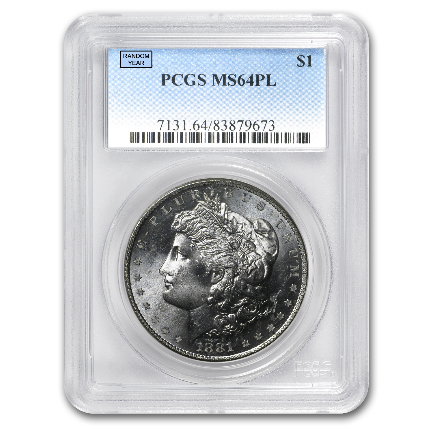 1878-1904 Morgan Dollars MS-64 PCGS (Proof Like)