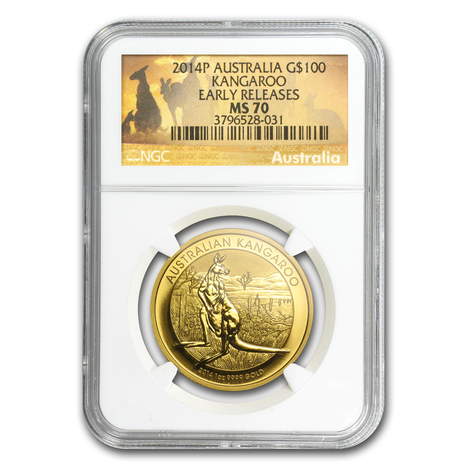 2014 Australia 1 oz Gold Kangaroo MS-70 NGC (Early Releases)