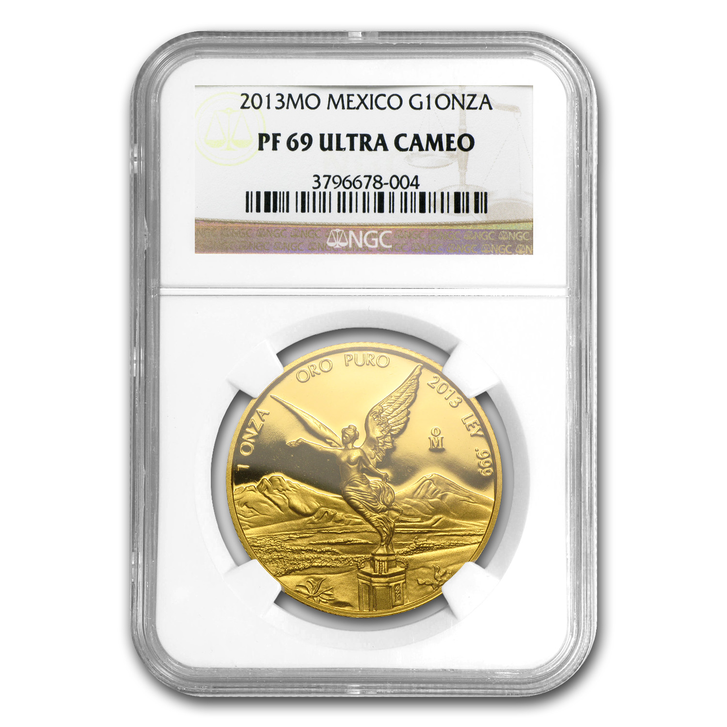 2013 Mexico 1 oz Gold Libertad PF-69 NGC