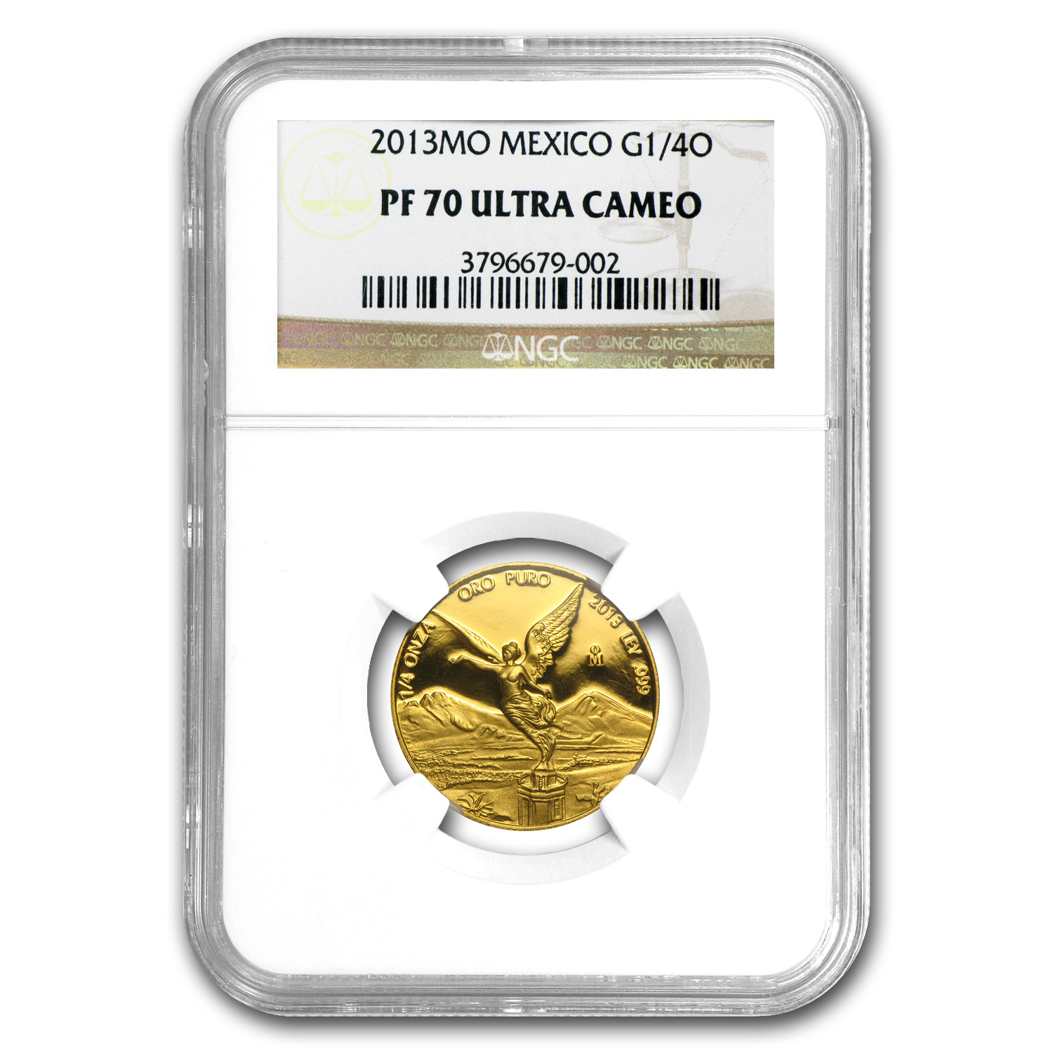 2013 1/4 oz Gold Mexican Libertad PF-70 UCAM NGC Registry Set