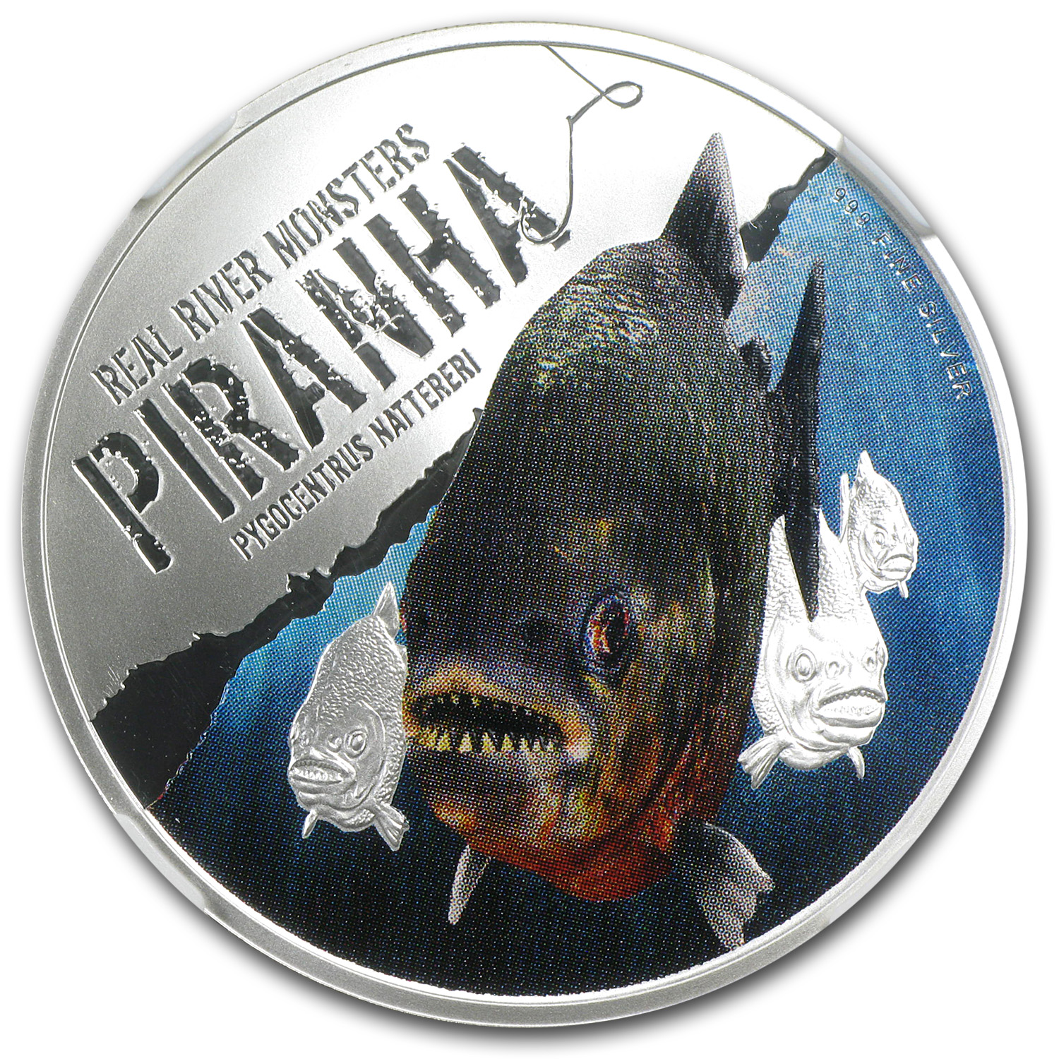 2013 Niue 1 oz Silver $2 Real River Monster Piranha PF-70 NGC