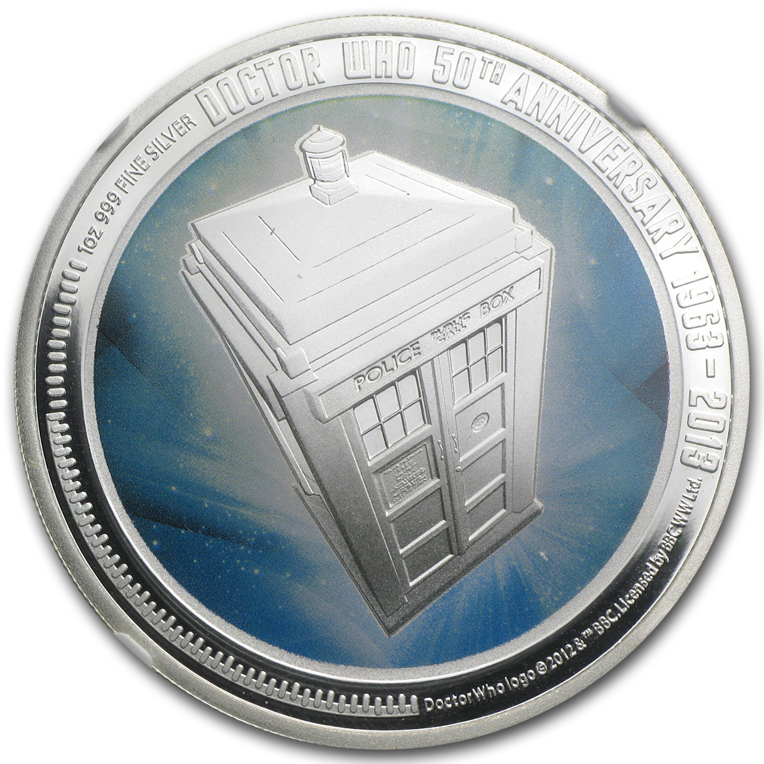2013 1 oz Silver Doctor Who 50th Anniversary Coin NGC PF-70 UCAM