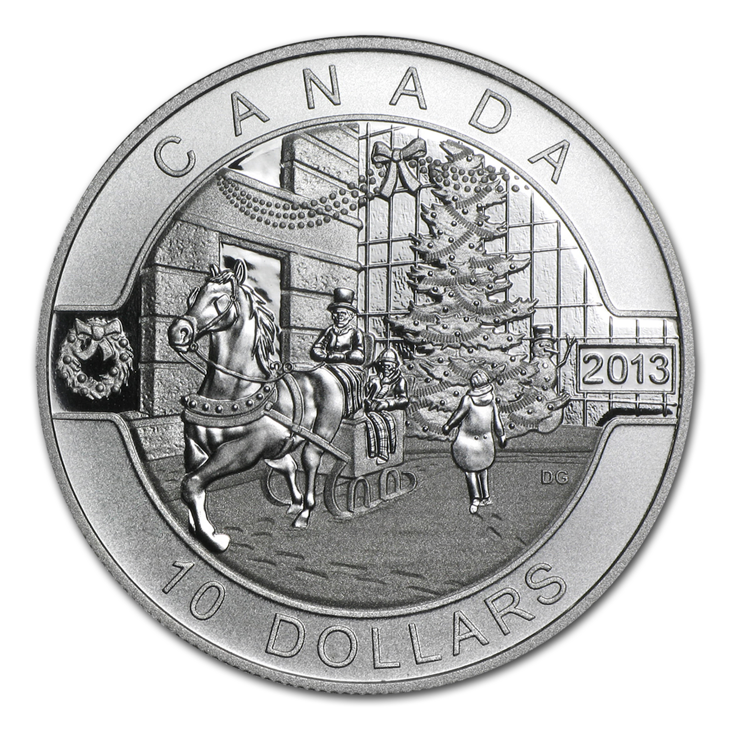 2013 Canada 1/2 oz Silver $10 Holiday Season (w/Box & COA)