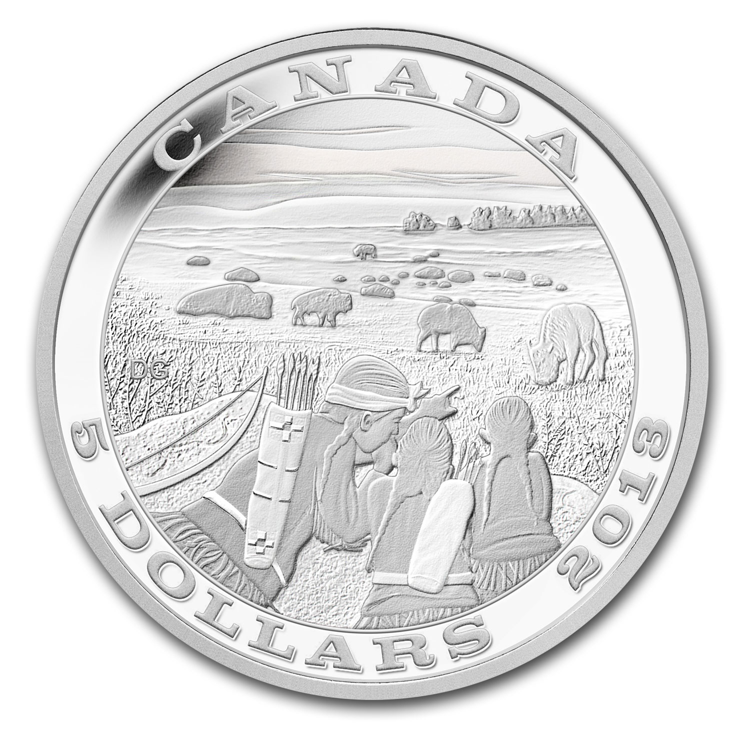 2013 Canada Silver $5 Tradition of Hunting Bison