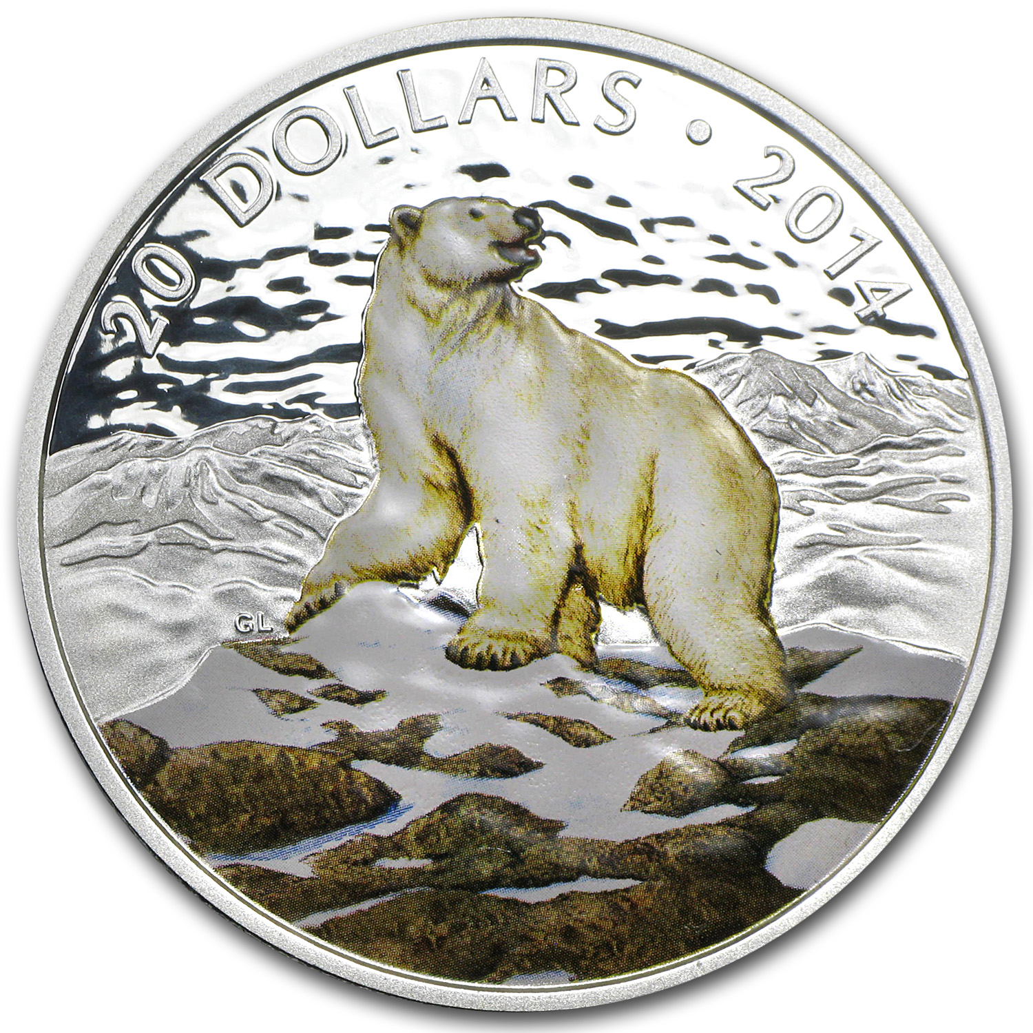2014 Canada 1 oz Silver $20 Coin Iconic Polar Bear