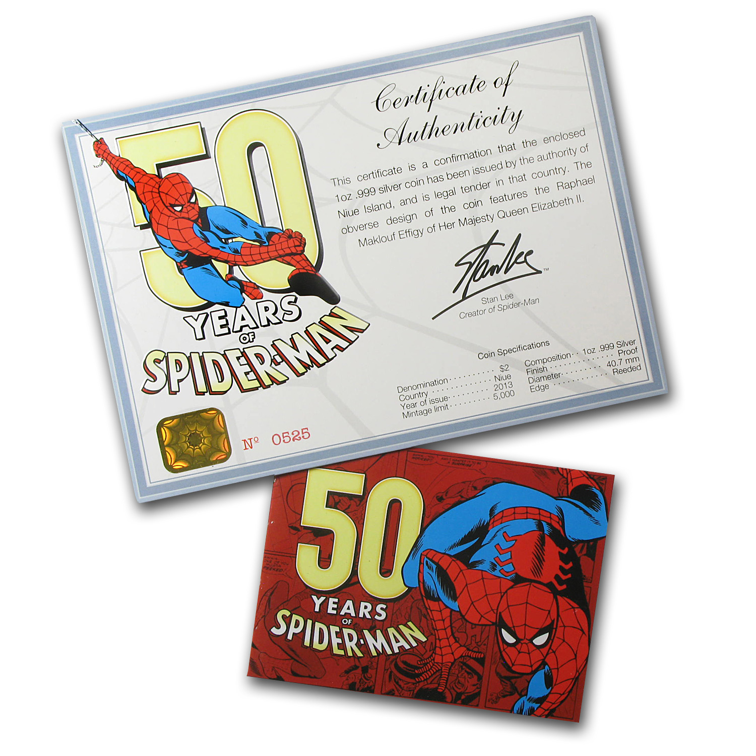 Niue 2013 1 oz Silver-50 Years of Spider-Man PF-69 UCAM NGC