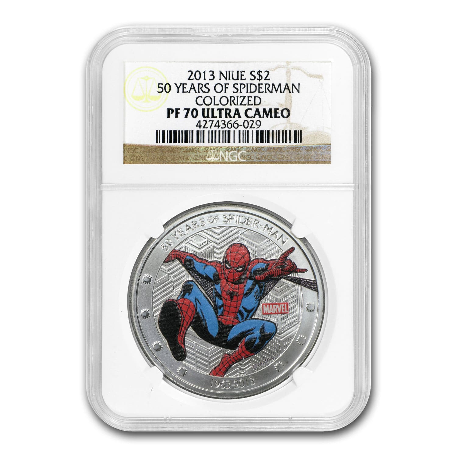2013 Niue 1 oz Silver 50 Years of Spider-Man PF-70 NGC