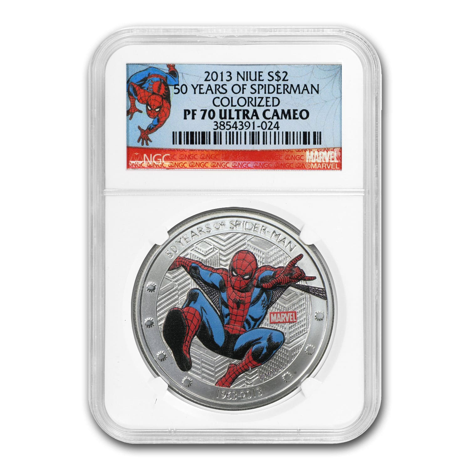 Niue 2013 1 oz Silver-50 Years of Spider-Man PF-70 UCAM NGC