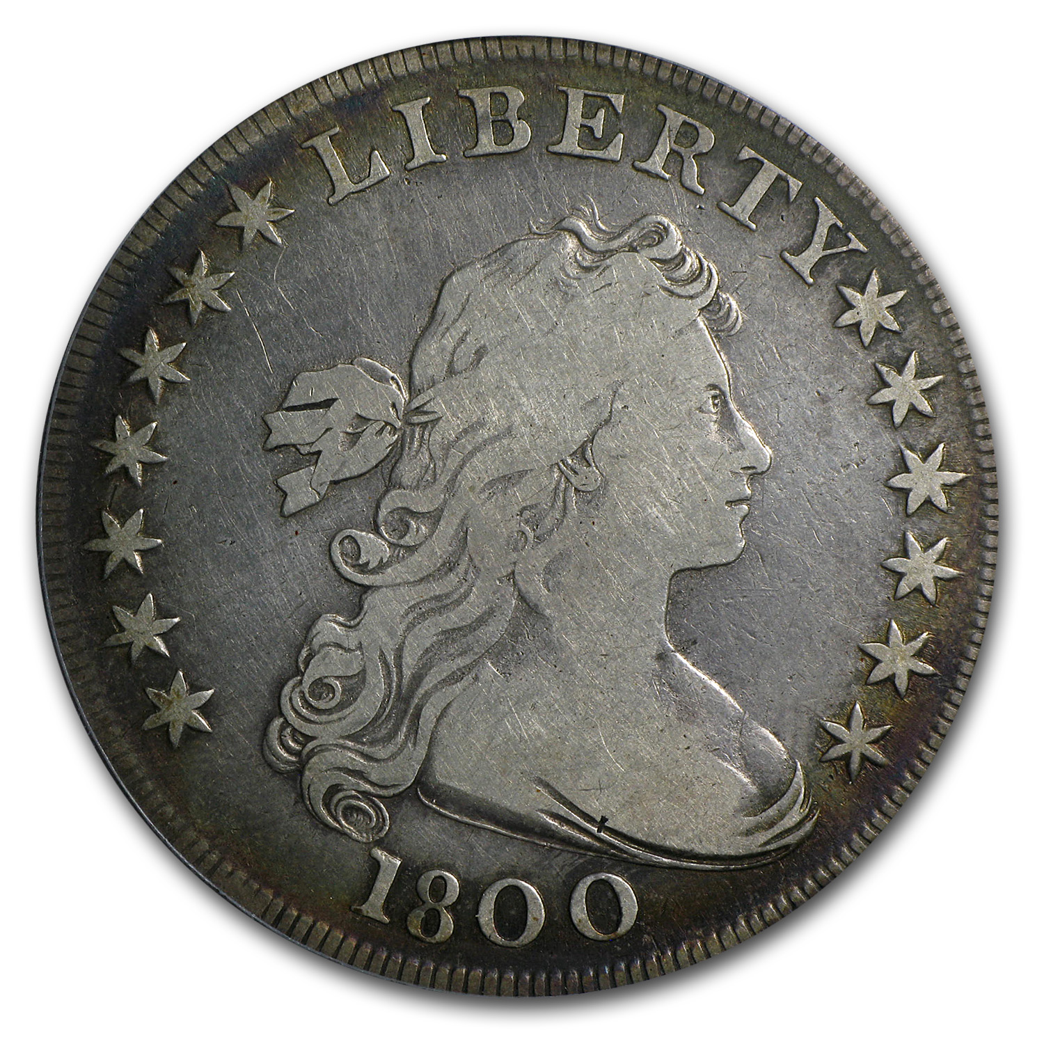 1800 Draped Bust Dollar - Fine Details - Cleaned PCGS