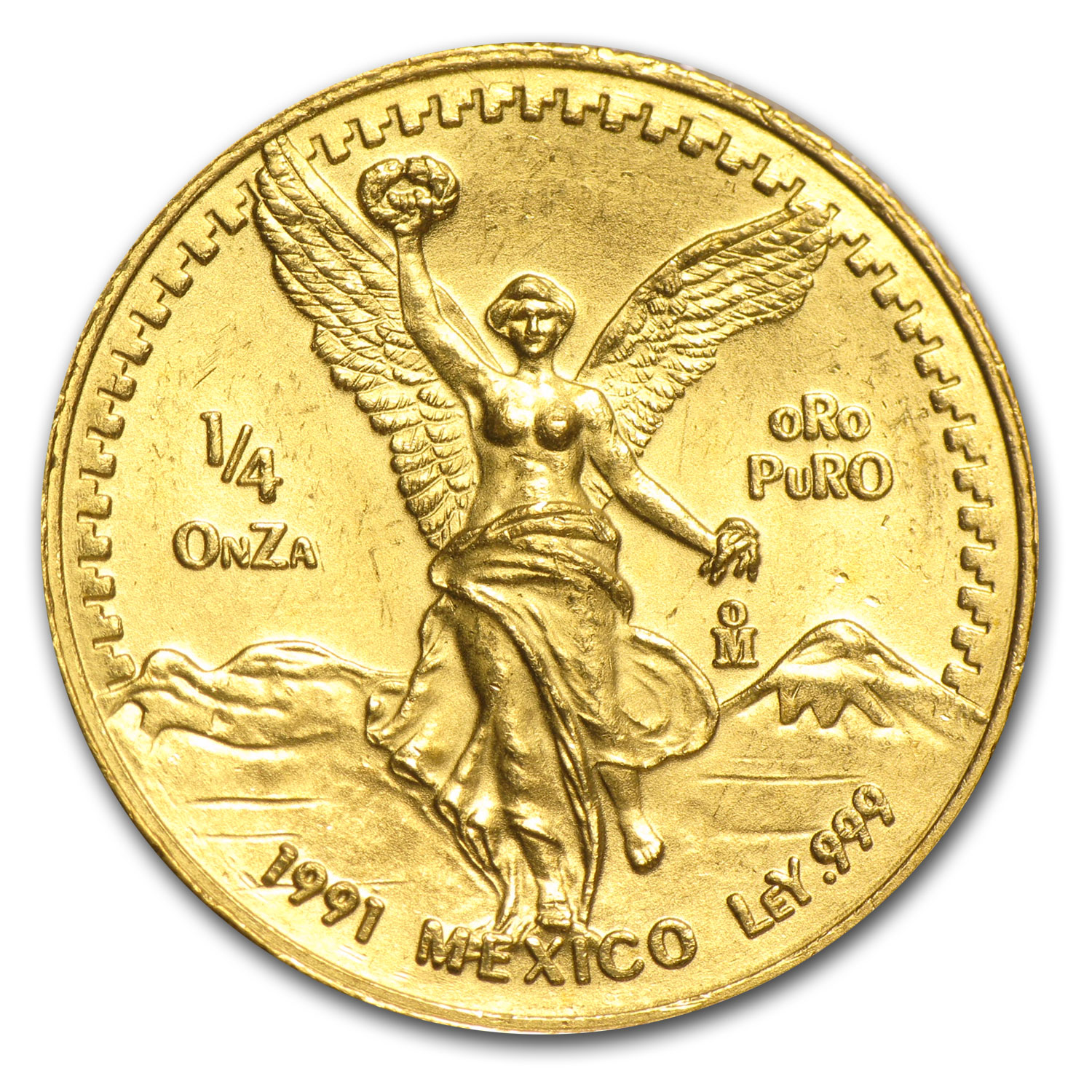 1991 Mexico 1/4 oz Gold Libertad BU