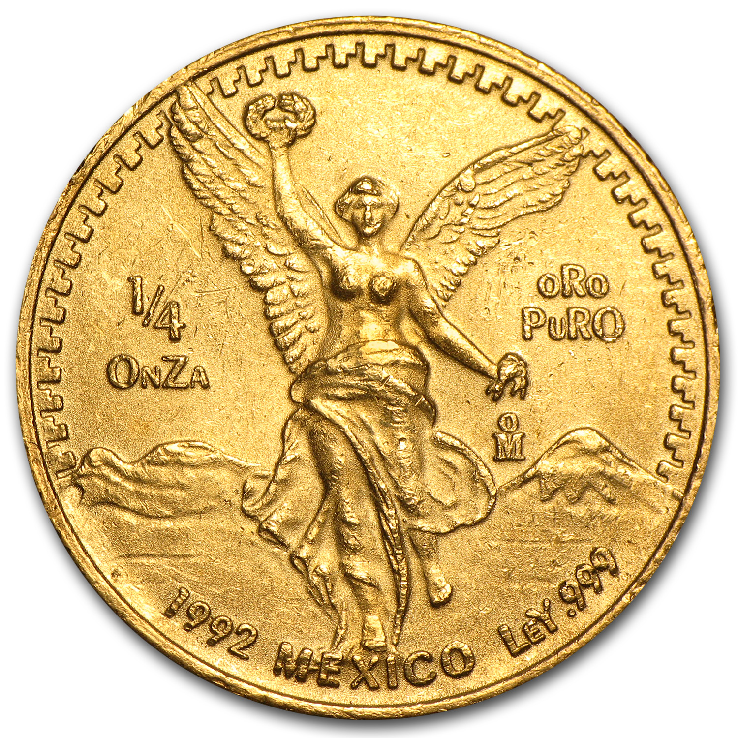 1992 Mexico 1/4 oz Gold Libertad BU