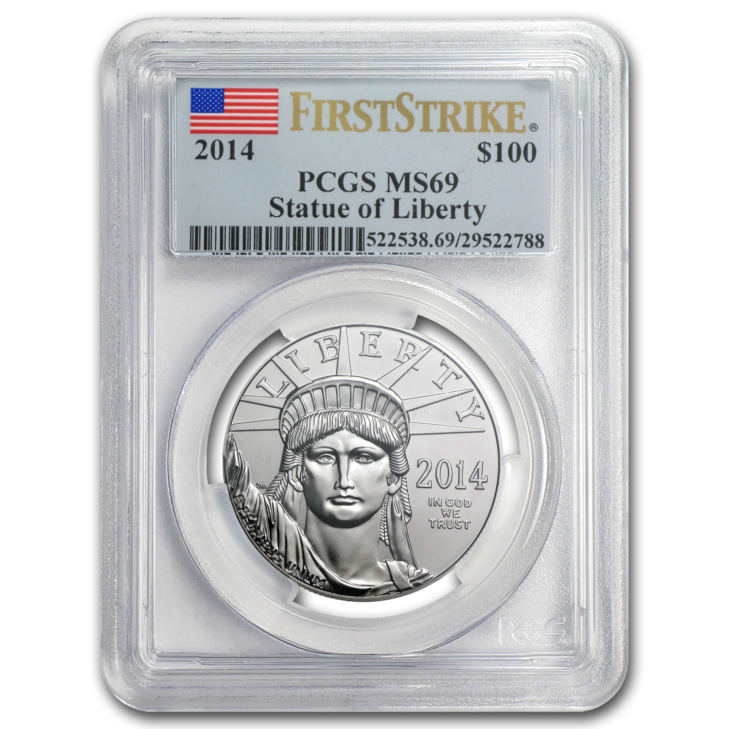2014 1 oz Platinum American Eagle MS-69 PCGS (First Strike)