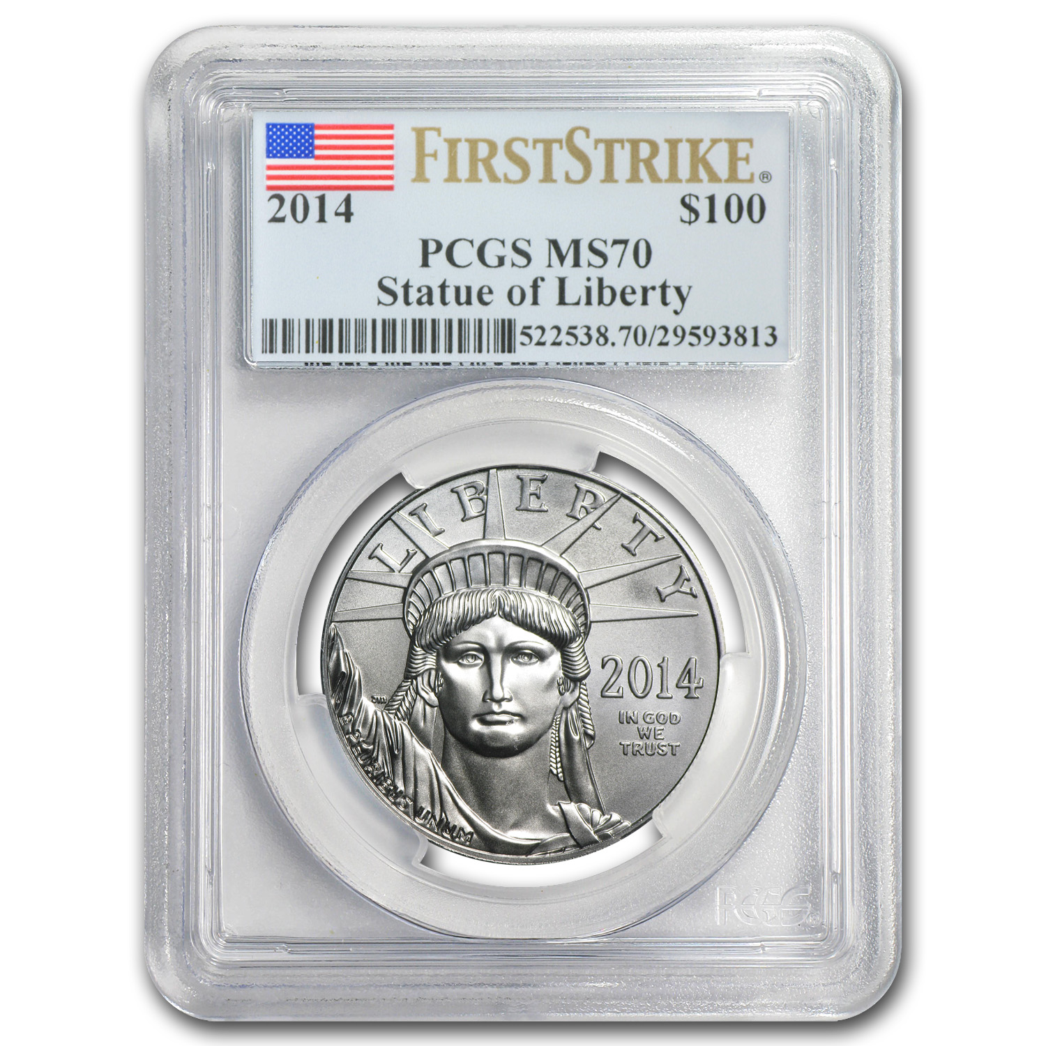 2014 1 oz Platinum American Eagle MS-70 PCGS (First Strike)
