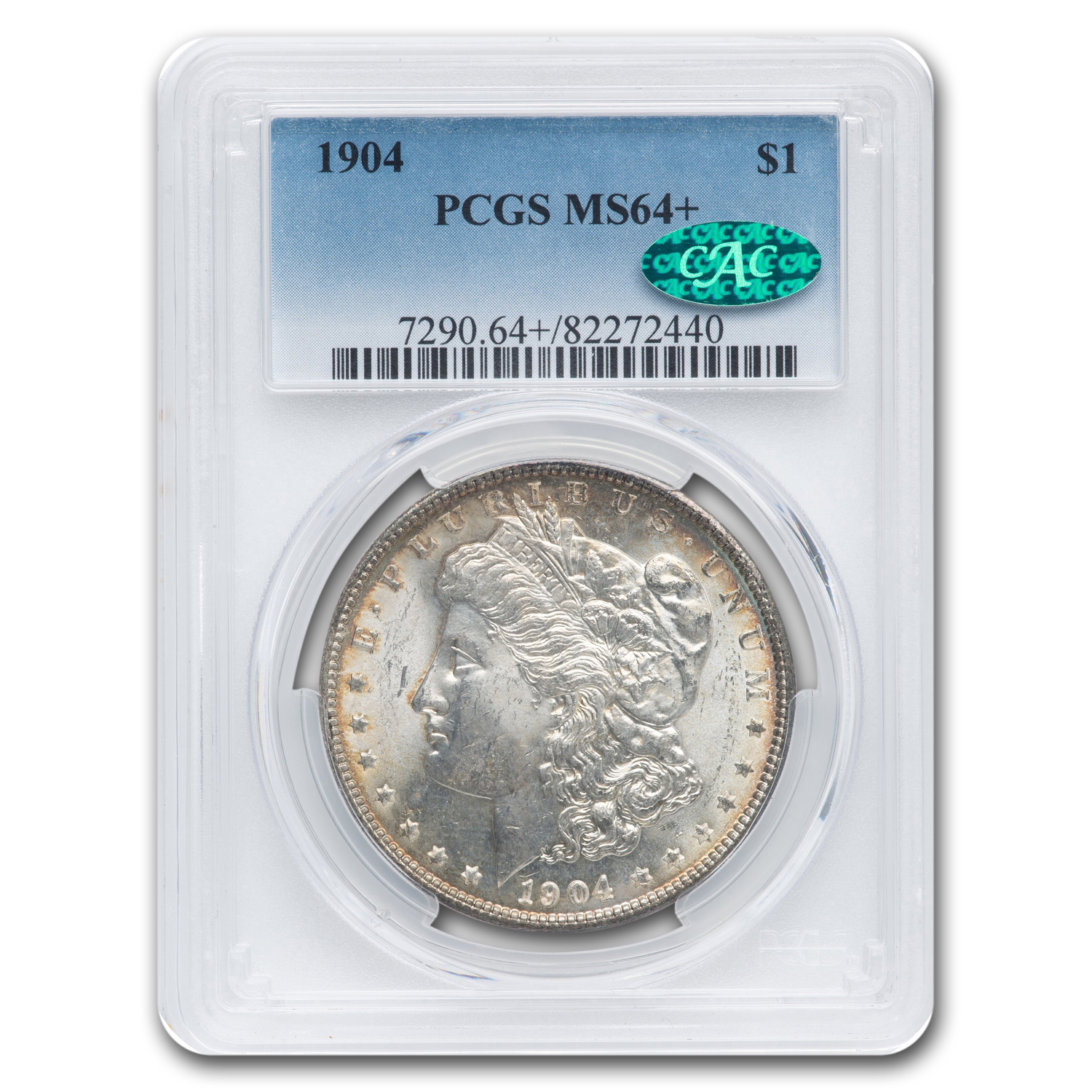 1904 Morgan Dollar MS-64+ Plus PCGS (CAC)