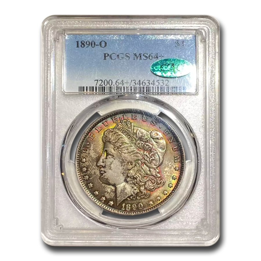 1890-O Morgan Dollar - MS-64+ Plus PCGS - CAC