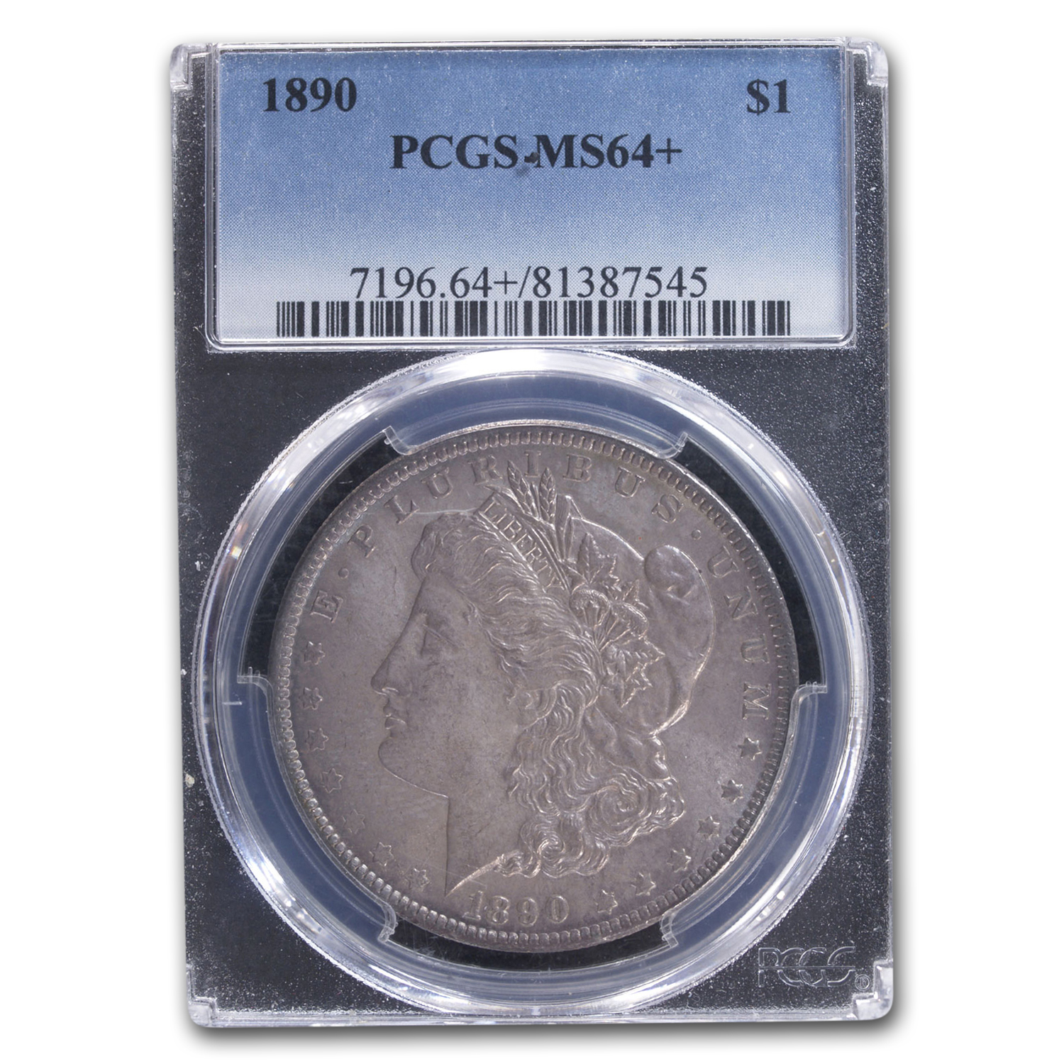 1890 Morgan Dollar MS-64+ Plus PCGS