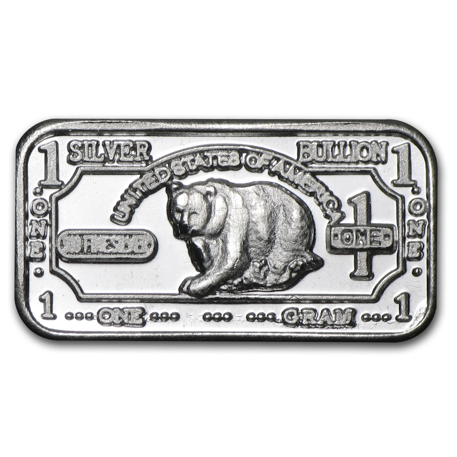 1 gram Silver Bar - Black Bear