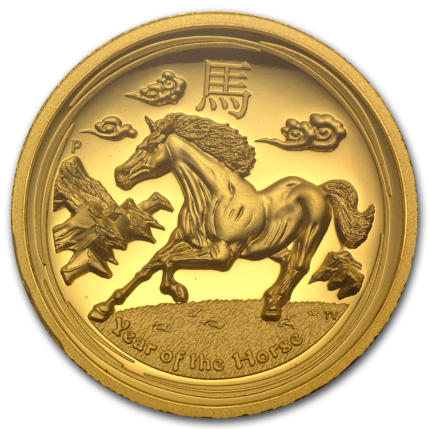 2014 1 oz Gold Horse PR-70 PCGS (Ultra High Relief)