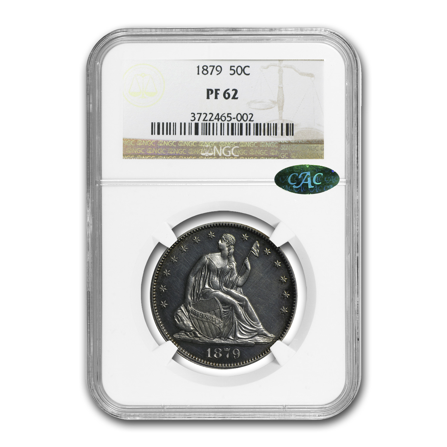 1879 Liberty Seated Half Dollar PF-62 NGC (CAC)