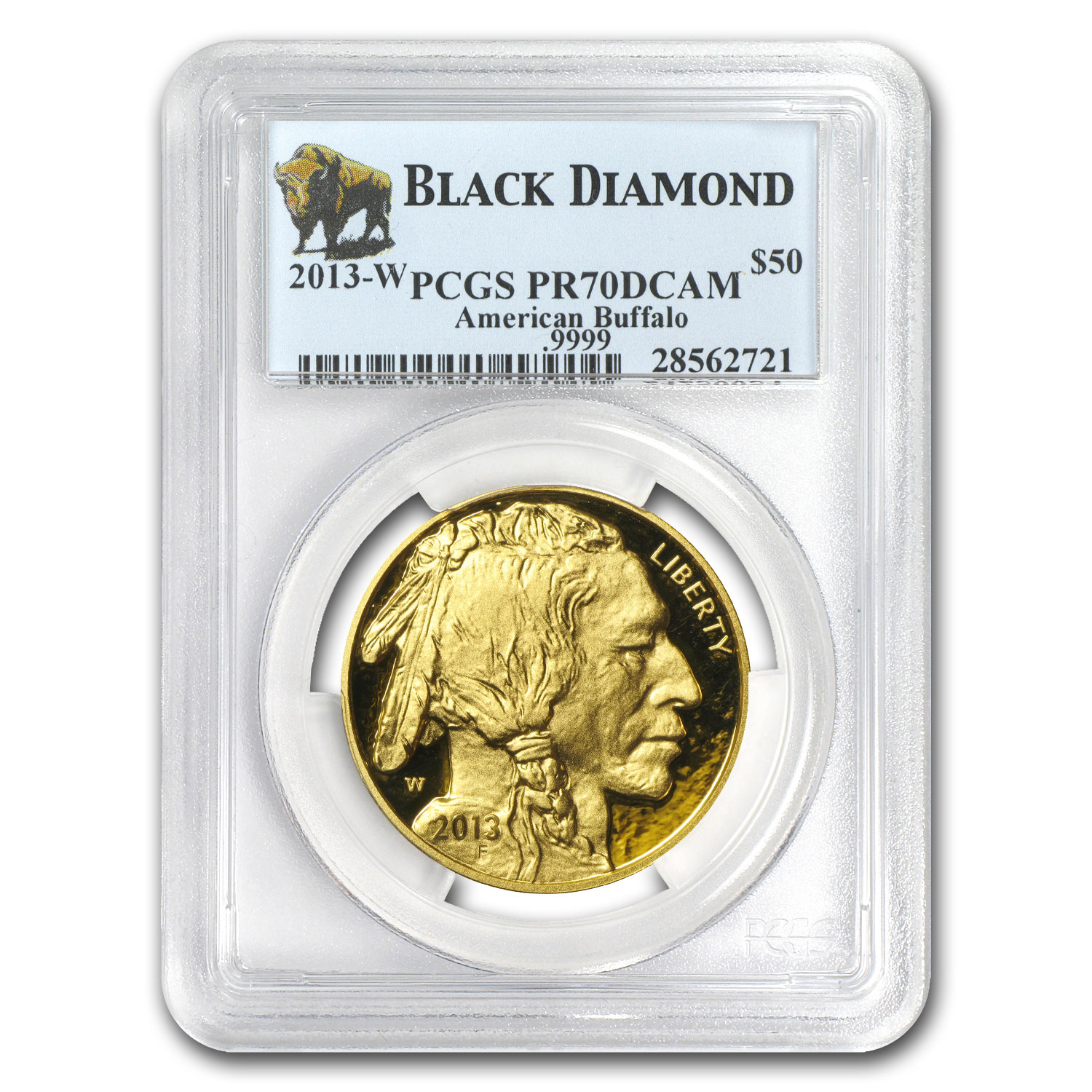 2013-W 1 oz Proof Gold Buffalo PR-70 PCGS (Black Diamond)
