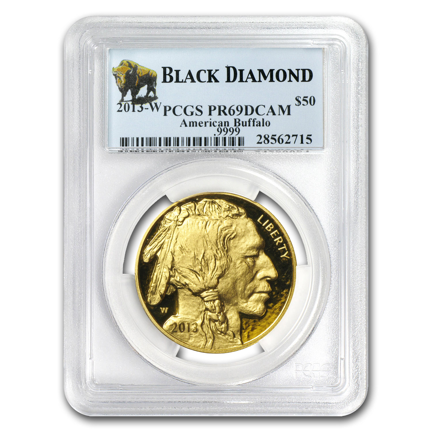 2013-W 1 oz Proof Gold Buffalo PR-69 PCGS (Black Diamond)