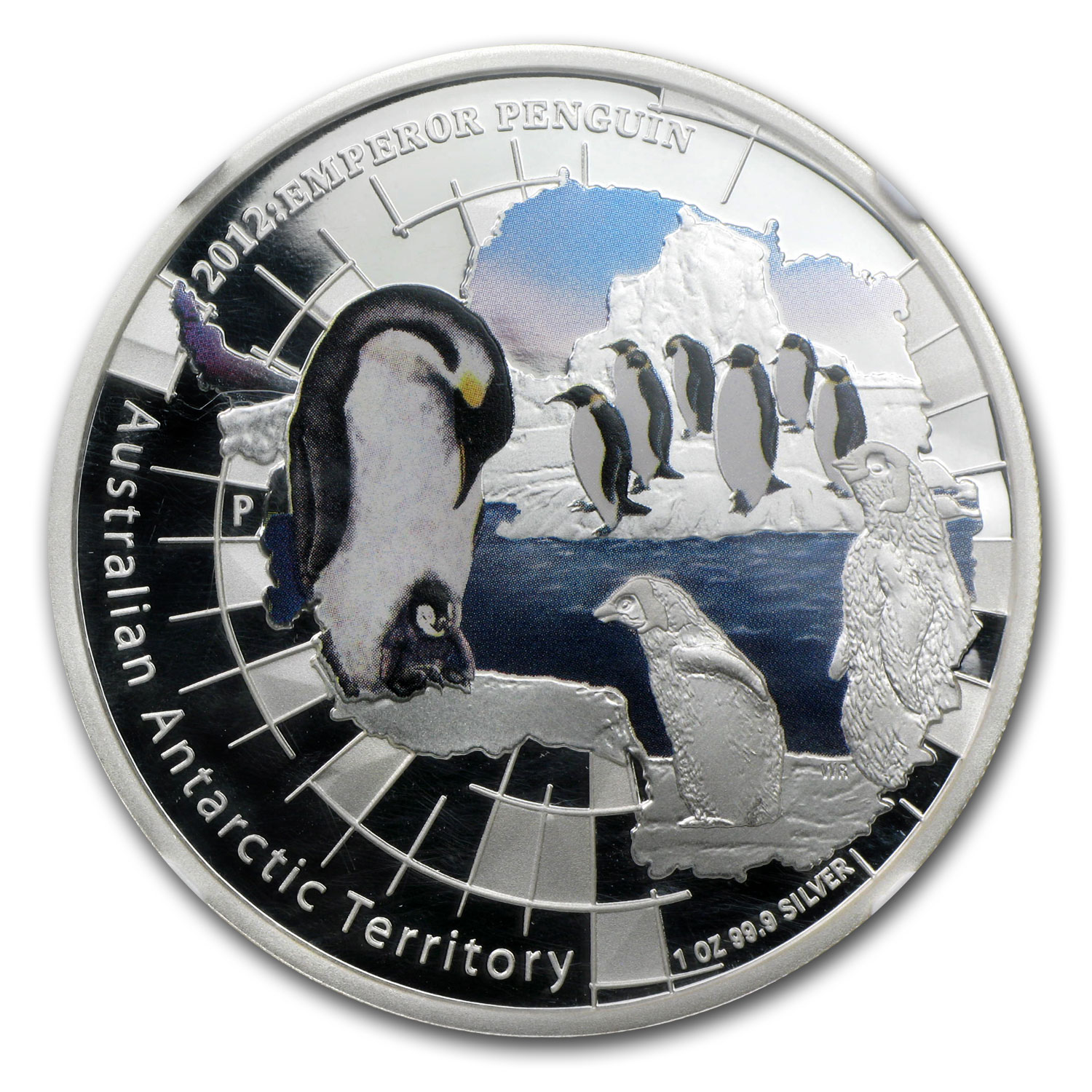 2012 1 oz Proof Silver Emperor Penguin Coin- PF-70 UCAM ER NGC