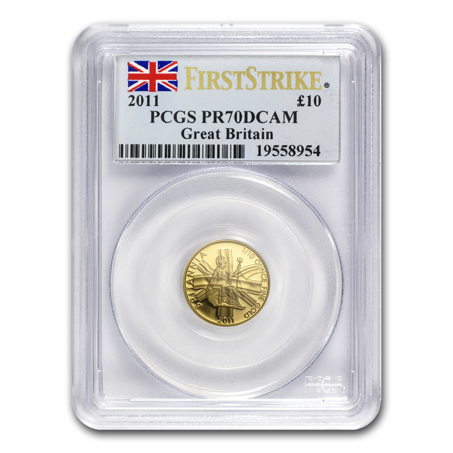 2011 Great Britain 1/10 oz Proof Gold Britannia PR-70 PCGS (FS)