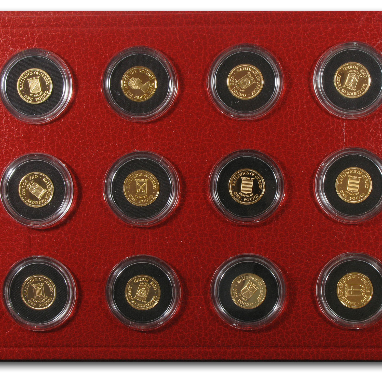 1983-1989 States of Jersey Gold Proof 12 Coin Set