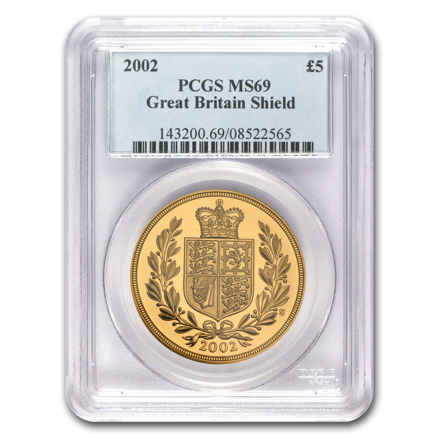 Great Britain 2002 Gold 5 Pounds Queen's Jubilee MS-69 PCGS