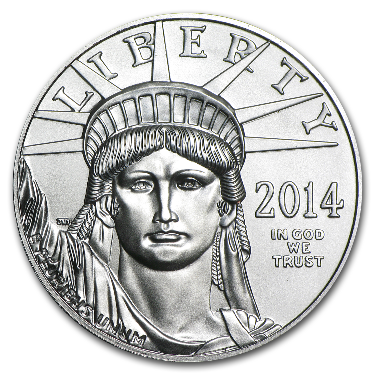2014 1 oz Platinum American Eagle BU