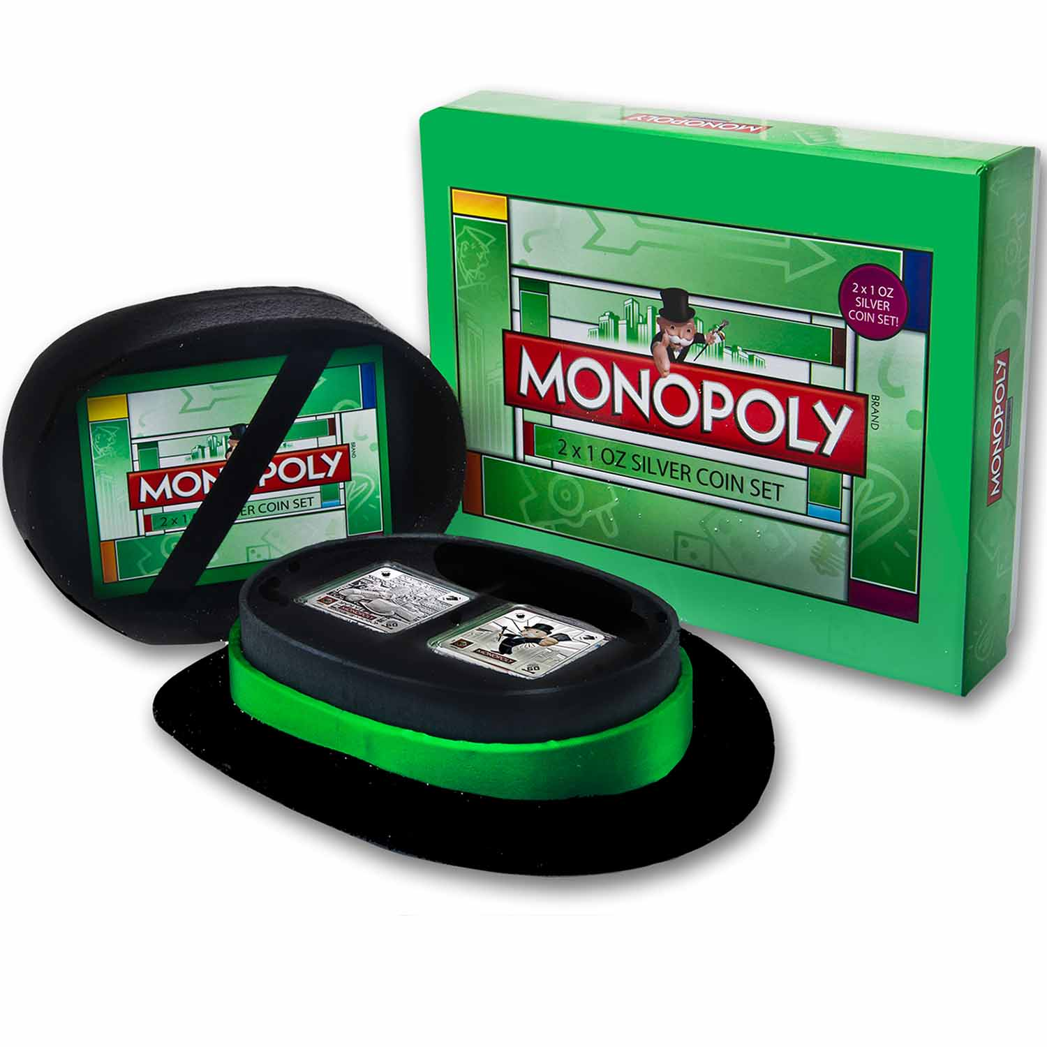 2013 Niue 2-Coin 1 oz Silver $2 Monopoly Proof Set