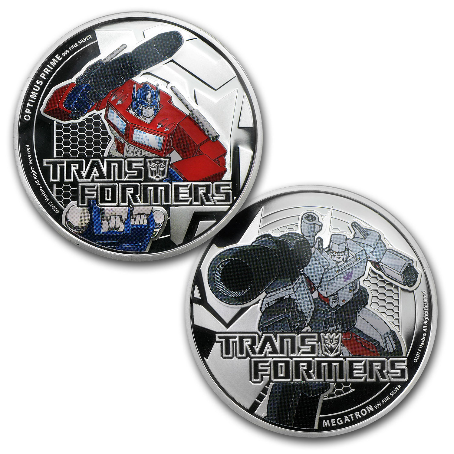 2013 2-Coin 1 oz Silver $2 Niue Transformers Proof Set