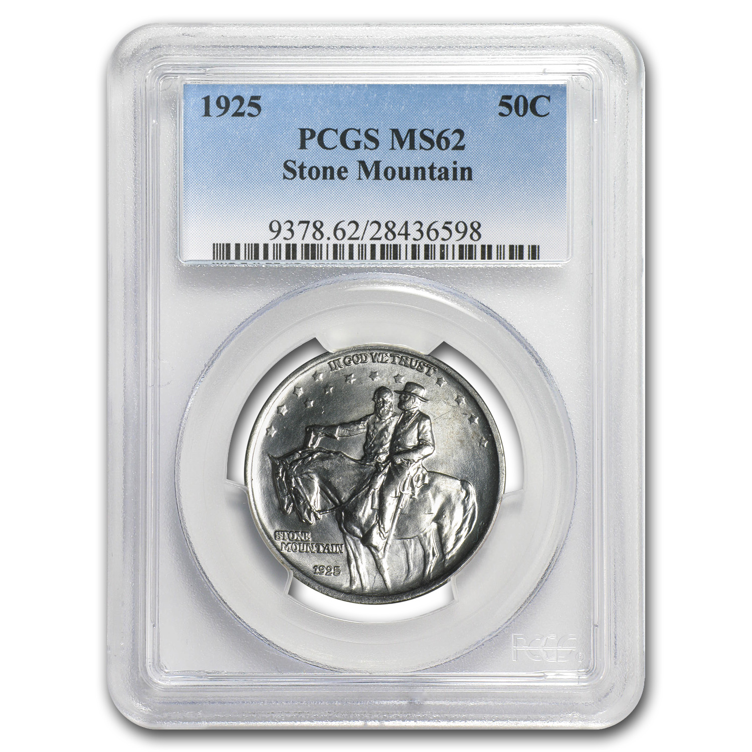 1925 Stone Mountain Memorial Half MS-62 PCGS