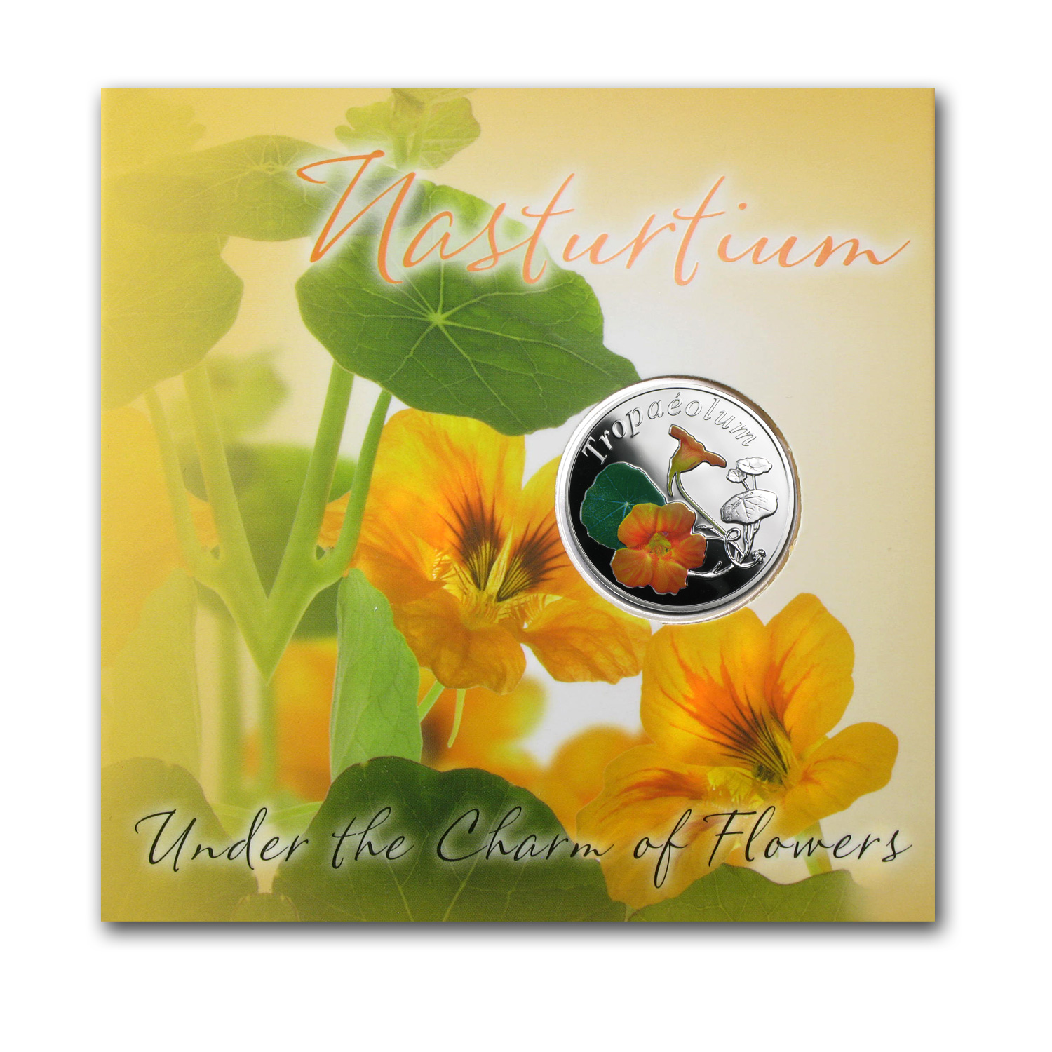2013 Belarus Silver Proof Under the Charm of Flowers Nasturtium