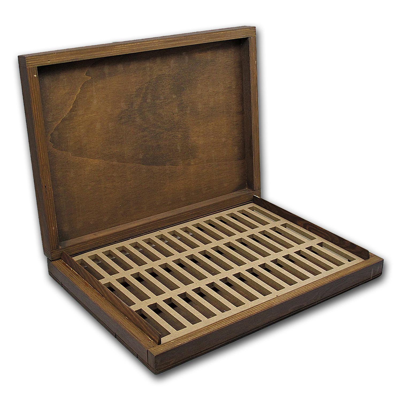 Geiger Edelmetalle Wood Storage Box For 10 Oz Silver Bars