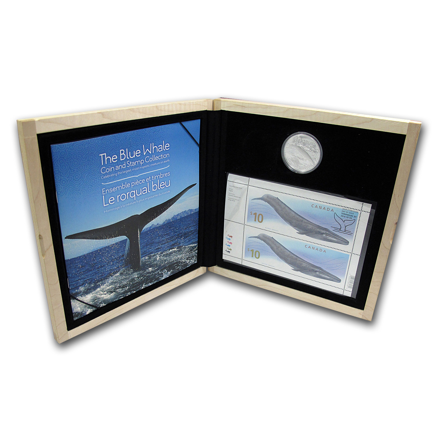 2010 Canada Silver $10 Blue Whale Coin & Stamp Set