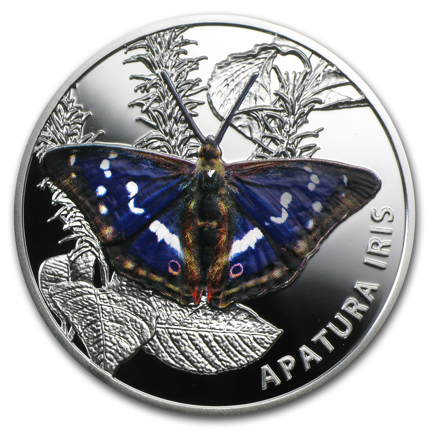 2013 Belarus Proof Silver 20 Rubles Butterflies Purple Emperor