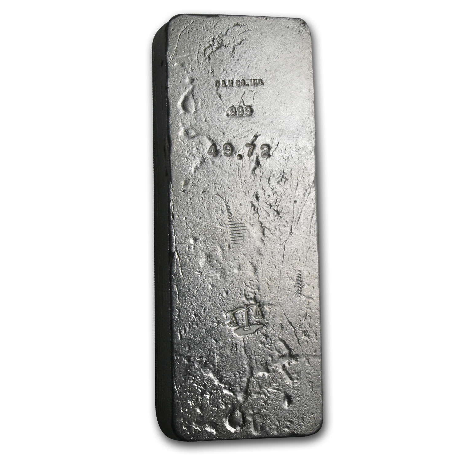 49.72 oz Silver Bar - D & H Company (Scales of Justice)