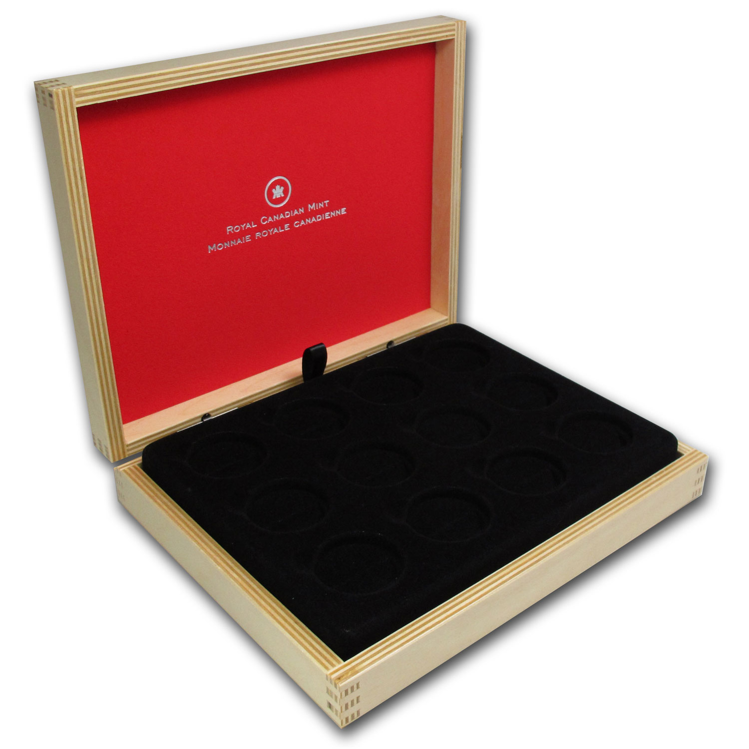 O Canada 1/2 oz coins - 12 Coin Wood Presentation Box