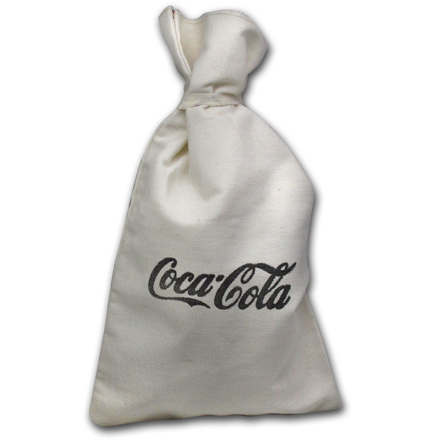 Canvas Money Bag with Coca-Cola Logo - Vintage