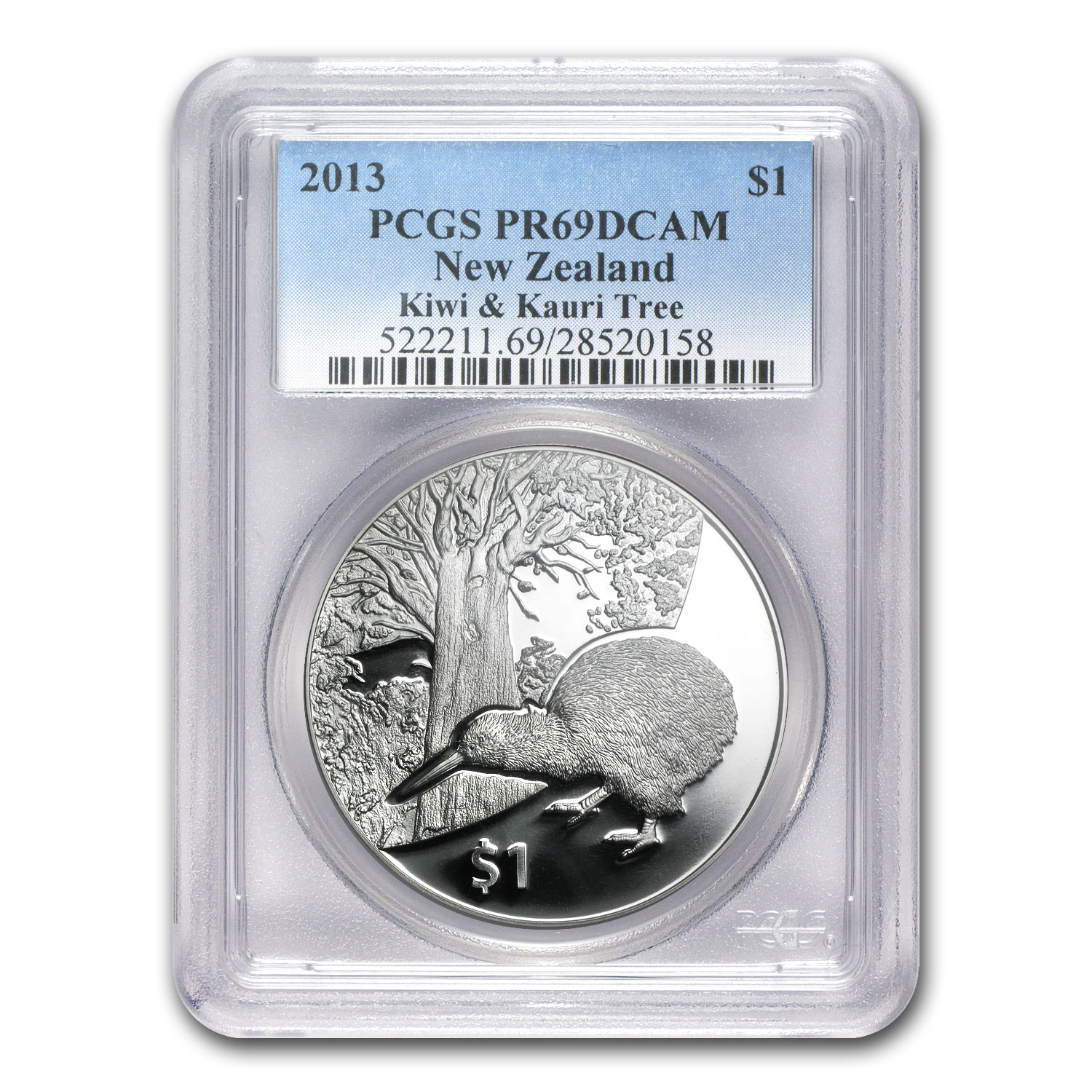 2013 New Zealand 1 oz Silver Treasures $1 Kiwi PR-69 PCGS