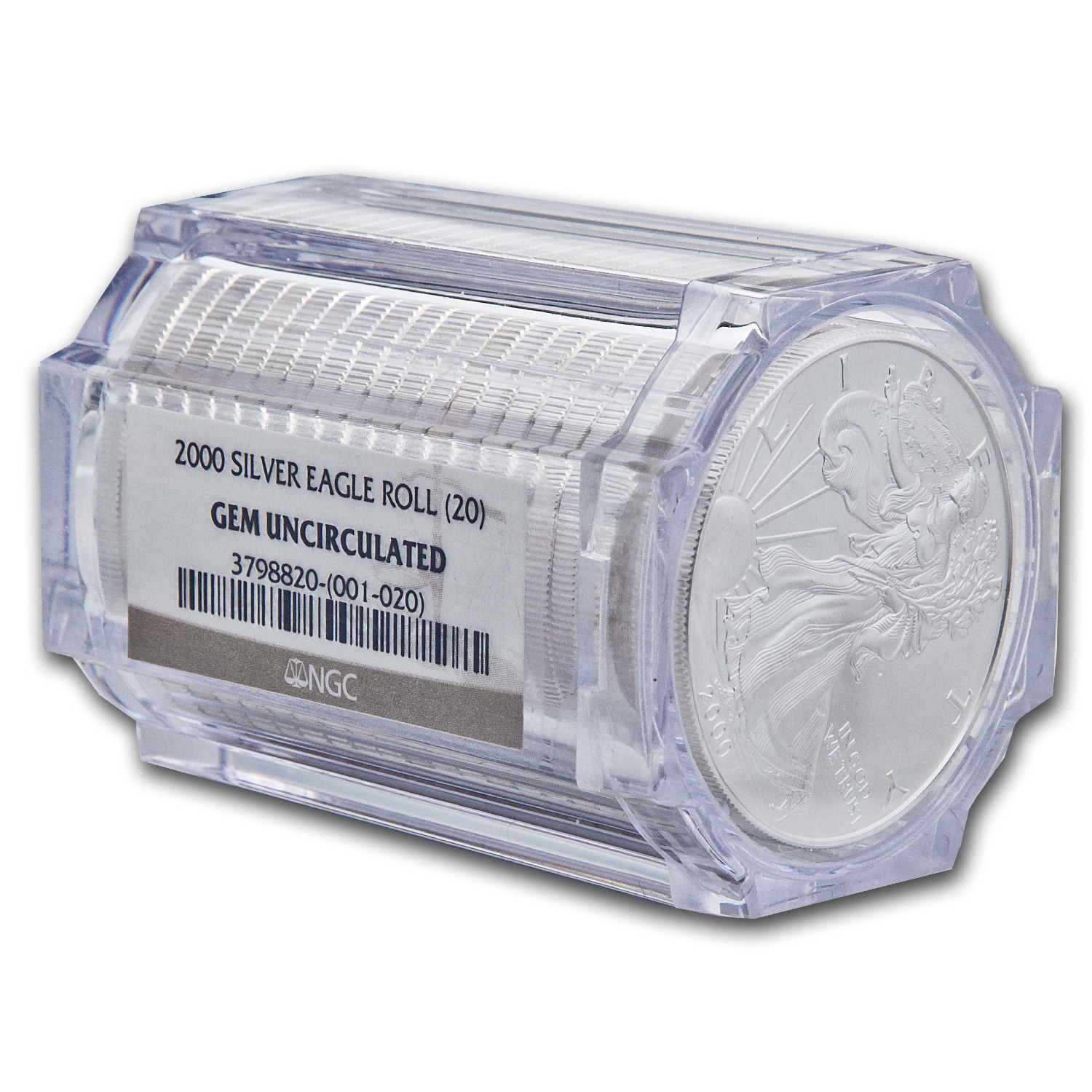 2000 Silver American Eagles - BU NGC - 20-Coin Sealed Tube