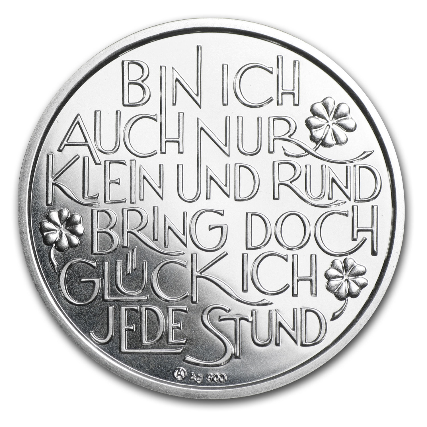2014 Silver Austrian Glücksjeton Proof (Happy New Year)