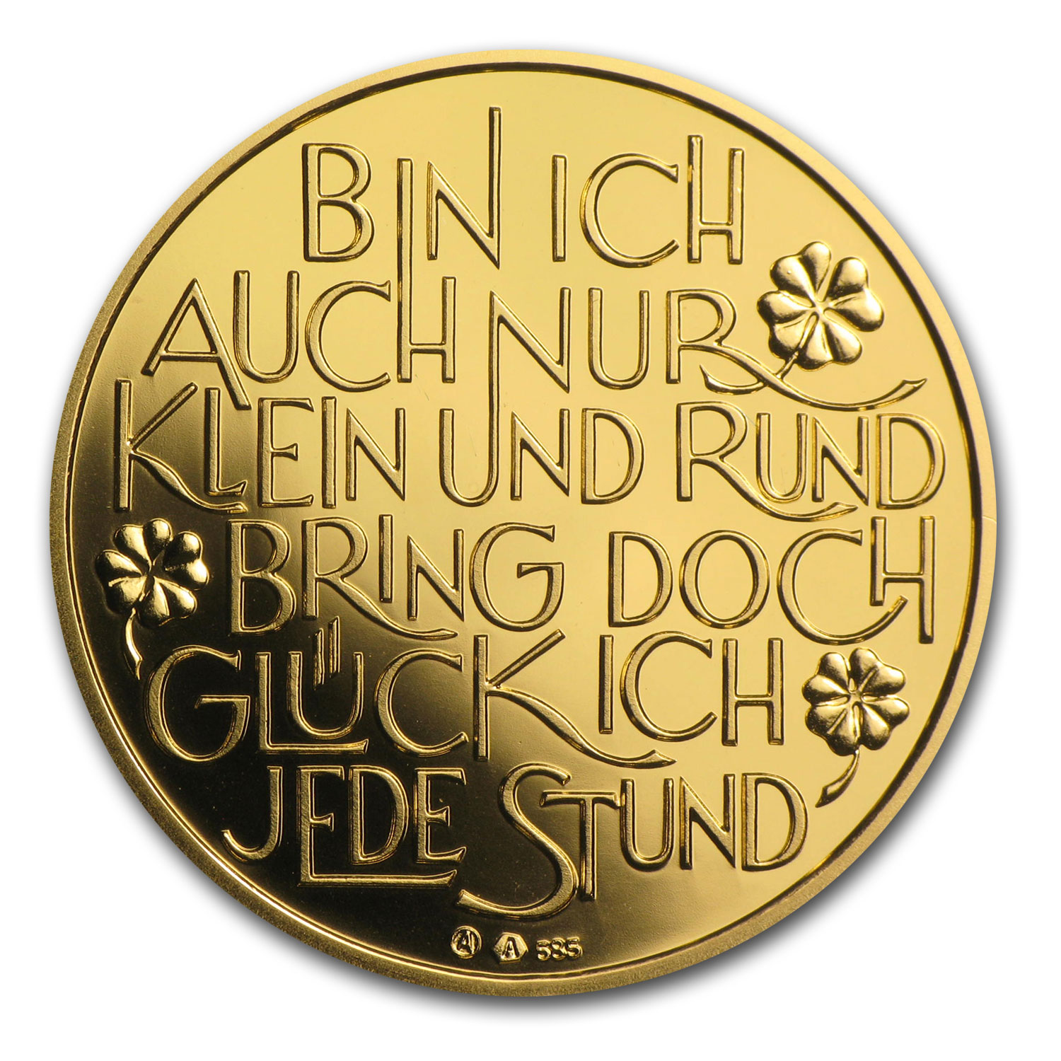 2014 Gold Austrian Glücksjeton (Happy New Year)