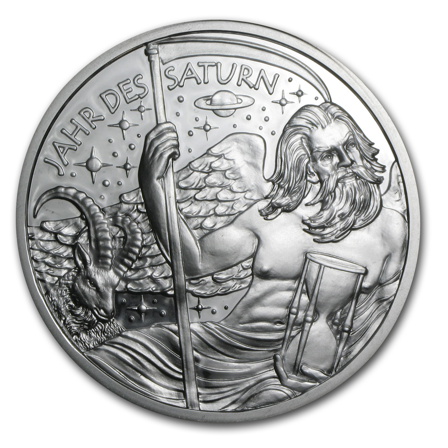 2014 Austria Silver The Golden Age of Saturn (Kalendermedaille)