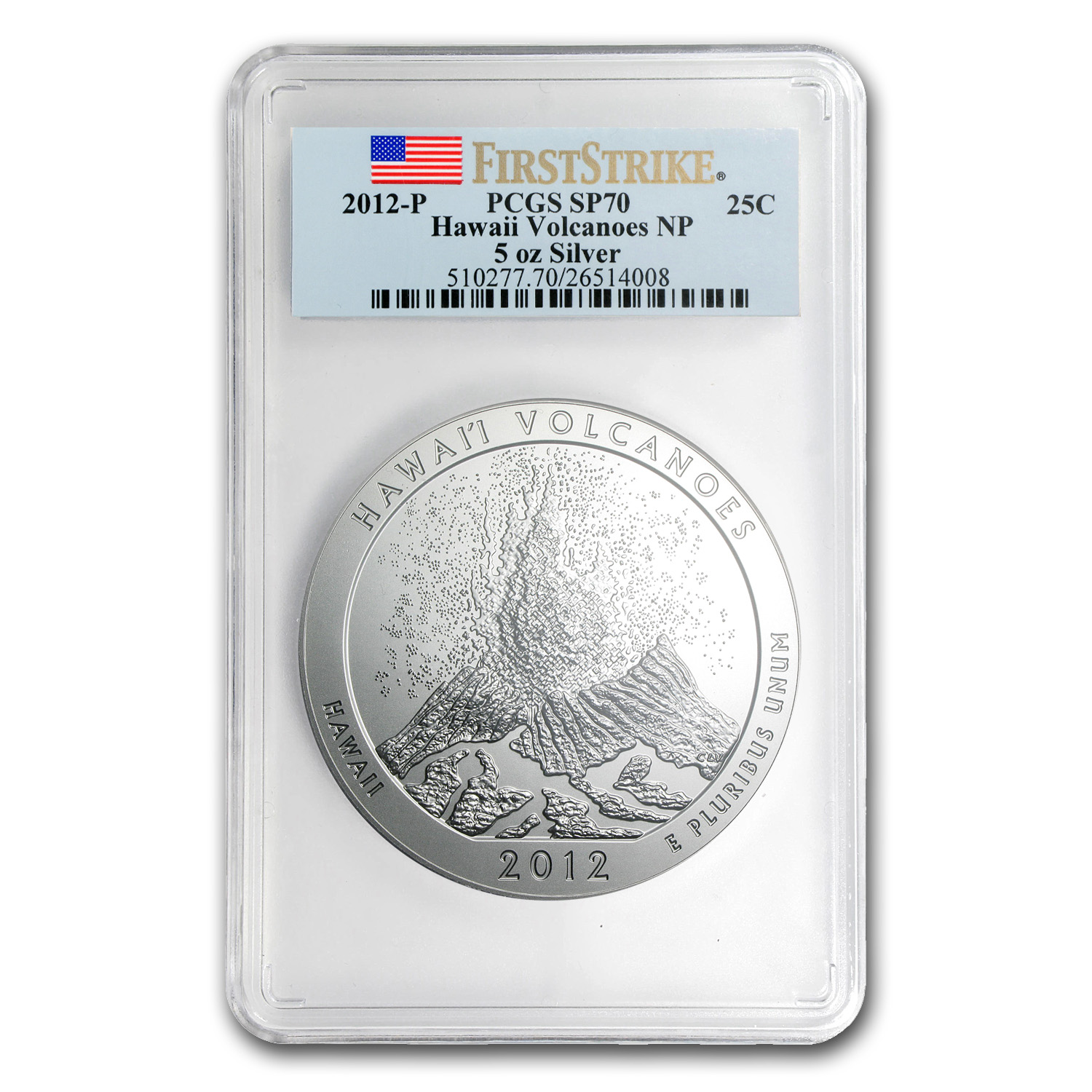 2012-P 5 oz Silver ATB Hawaii SP-70 PCGS (First Strike)