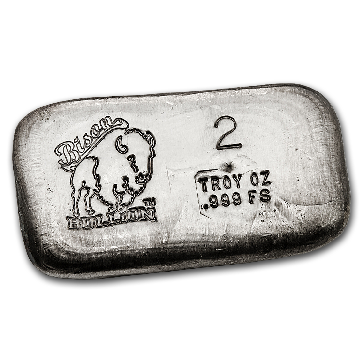 2 oz Silver Bar - Bison Bullion