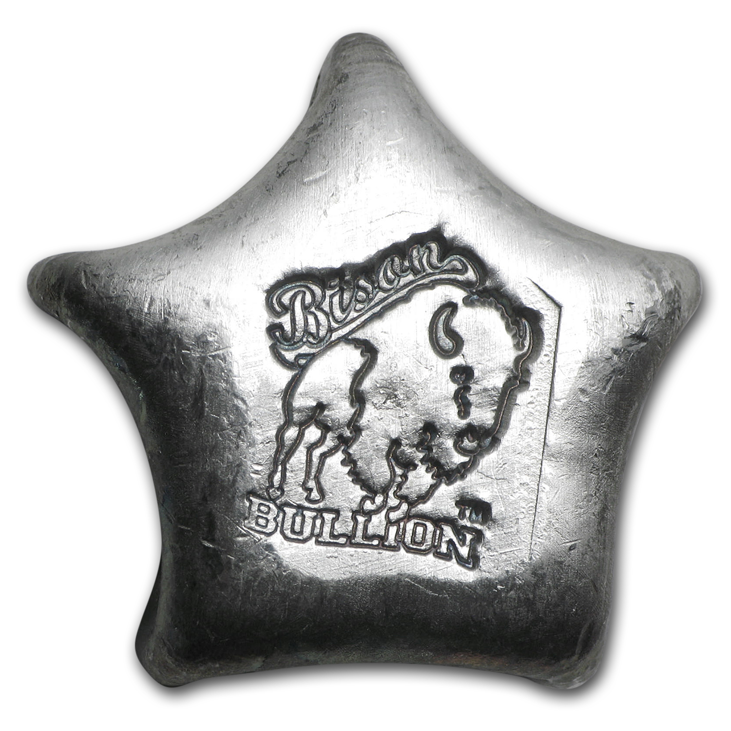 1 oz Silver Star - Bison Bullion
